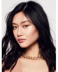 Free People - Metallic Smooth Sailin' Chain Choker - Lyst