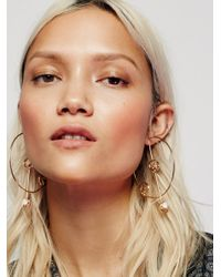 Free People | Multicolor Solar System 3d Hoops | Lyst