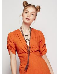Free People | Multicolor South Of The Border Leather Necklace | Lyst