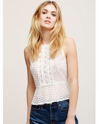 a742349215655 Free People. Women s White Star Signs Eyelet Top. See more Cotton Sleeveless  ...
