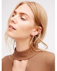 Free People Multicolor Straight Through Hoops