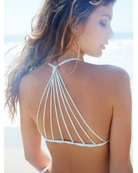 Free People | Multicolor Strappy Racer Back Swim Top Zuma Basic Bottom | Lyst