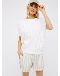 Free People | White That Tee Pullover | Lyst