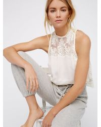 Free People | White Tied To You Lace Top | Lyst