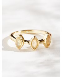 Free People | Metallic Triple Crown Opal Ring | Lyst