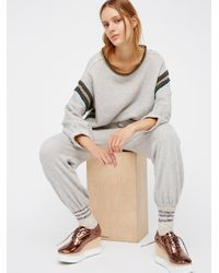 Free People | Gray Trudy Pullover | Lyst