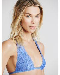 Free People | Blue Truly Madly Deeply Halter | Lyst