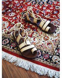 Free People | Natural Vegan Maddie Tie Up Sandal | Lyst