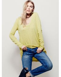 Free People | Green We The Free Anna Tee | Lyst