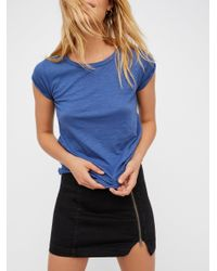 Free People | Blue We The Free Clare Tee | Lyst