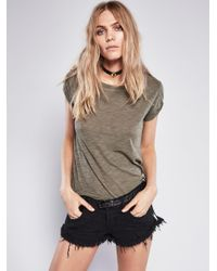 Free People | Gray We The Free Clare Tee | Lyst