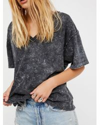 Free People   Gray We The Free Lindsey Tee   Lyst