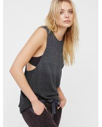 Free People | Gray We The Free Trieste Tank | Lyst