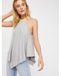Free People | Gray We The Free Twin Peaks Tank | Lyst