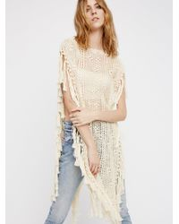Free People | Natural Without Borders Crochet Kaftan | Lyst