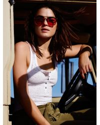 Free People   White We The Free Time Out Tank   Lyst