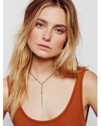 Free People | Metallic Yael Diamond Dagger Rosary | Lyst