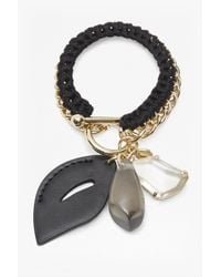 French Connection - Metallic Botanical Mixed Statement Bracelet - Lyst