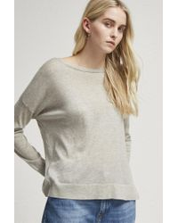 French Connection - Gray Spring Light Open Back Jumper - Lyst