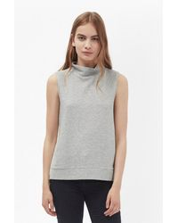 French Connection - Gray Sudan Sunray Sleeveless Jumper - Lyst
