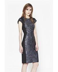 French Connection | Metallic Lunar Sparkle Sequin Pencil Dress | Lyst