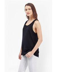 French Connection | Black Polly Plains Vest Top | Lyst