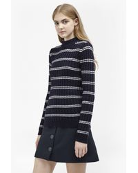 French Connection | Blue Po Rib Knits High Neck Jumper | Lyst