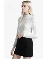 French Connection | White Mozart Ladder Open Knit Jumper | Lyst