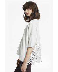French Connection | White Bea Broderie Anglaise Oversized Jumper | Lyst