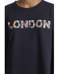 French Connection - Blue Toyen London Embellished Sweatshirt - Lyst