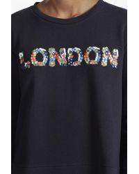French Connection | Blue Toyen London Embellished Sweatshirt | Lyst