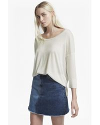French Connection - White Scoop Spring Light Knits Jumper - Lyst