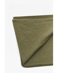 French Connection - Green Wool Blend Knitted Scarf - Lyst