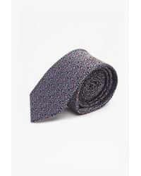 French Connection | Blue Amil Geo Silk Tie for Men | Lyst
