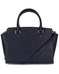 Michael Kors - Blue Leather Handbag Shopping Bag Purse Selma - Lyst