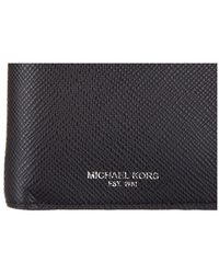 Michael Kors - Black Wallet Coin Case Holder Purse Card Bifold Harrison Tech Saffiano Phone Cover Case for Men - Lyst