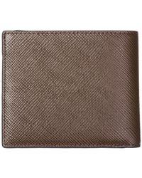 Michael Kors - Brown Genuine Leather Wallet Credit Card Bifold Harrison for Men - Lyst