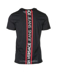 Versace Jeans - Black Short Sleeve T-shirt Crew Neckline Jumper for Men - Lyst