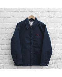 Obey - Blue Enforcement Jacket for Men - Lyst