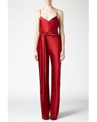 Galvan - Red Cuzco Jumpsuit - Lyst