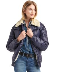 Gap | Blue Coldcontrol Max Sherpa-lined Puffer Jacket | Lyst
