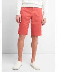 "Gap - Red 12"" Washwell Vintage Wash Shorts With Flex for Men - Lyst"
