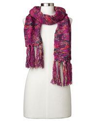 Gap - Pink Multi-color Marled Fringe Scarf - Lyst