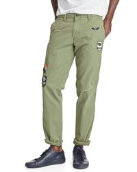 Gap | Green Vintage Wash Slim Fit Khakis for Men | Lyst