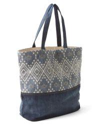 Gap - Blue Embroidery Denim Tote - Lyst