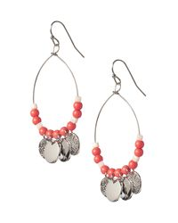 GAP Factory - Metallic Embellished Oval Hoop Earrings - Lyst