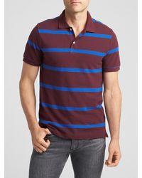 GAP Factory - Multicolor Stripe Pique Polo for Men - Lyst