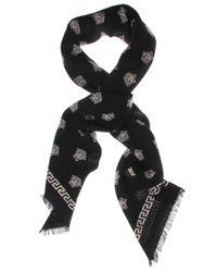 Versace | All Over Medusa Square Scarf Black/white | Lyst