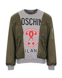 Moschino - Gray Panel Sweatshirt Grey for Men - Lyst