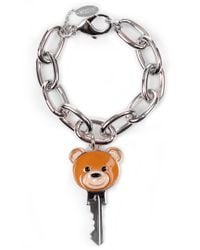 Moschino | Metallic Teddy Bracelet Silver | Lyst